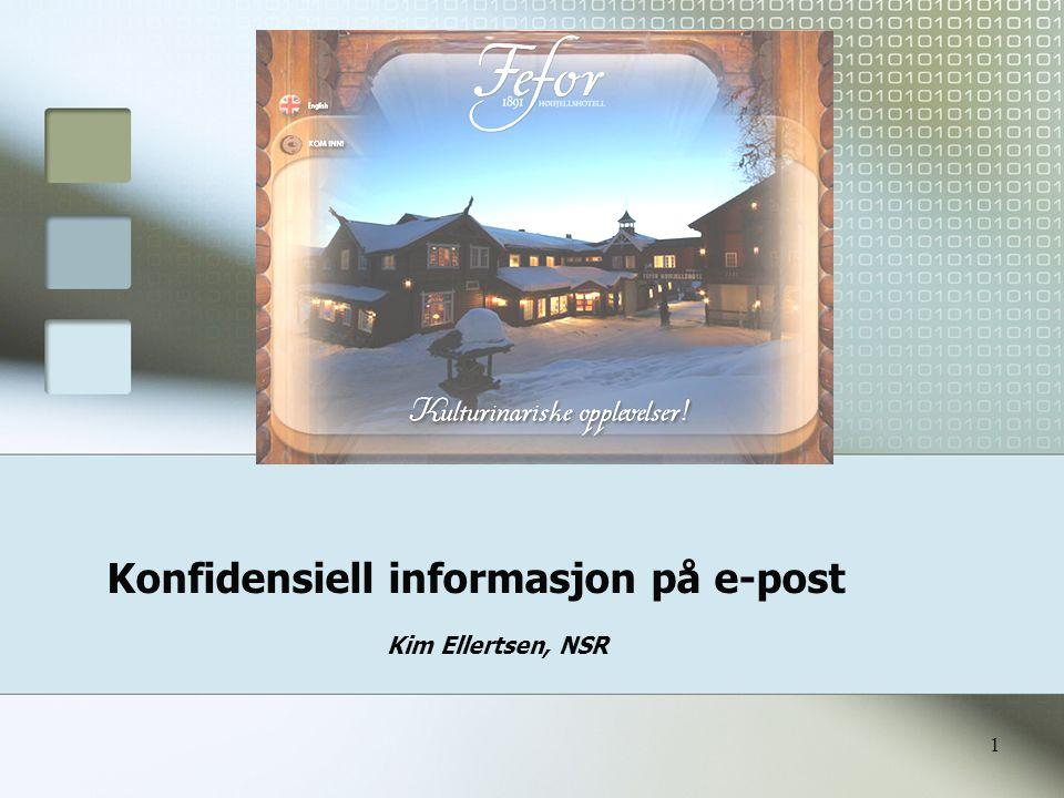 Konfidensiell informasjon på e-post