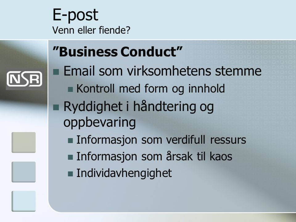 E-post Venn eller fiende