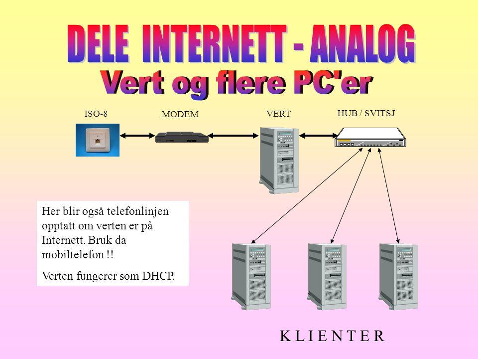DELE INTERNETT - ANALOG
