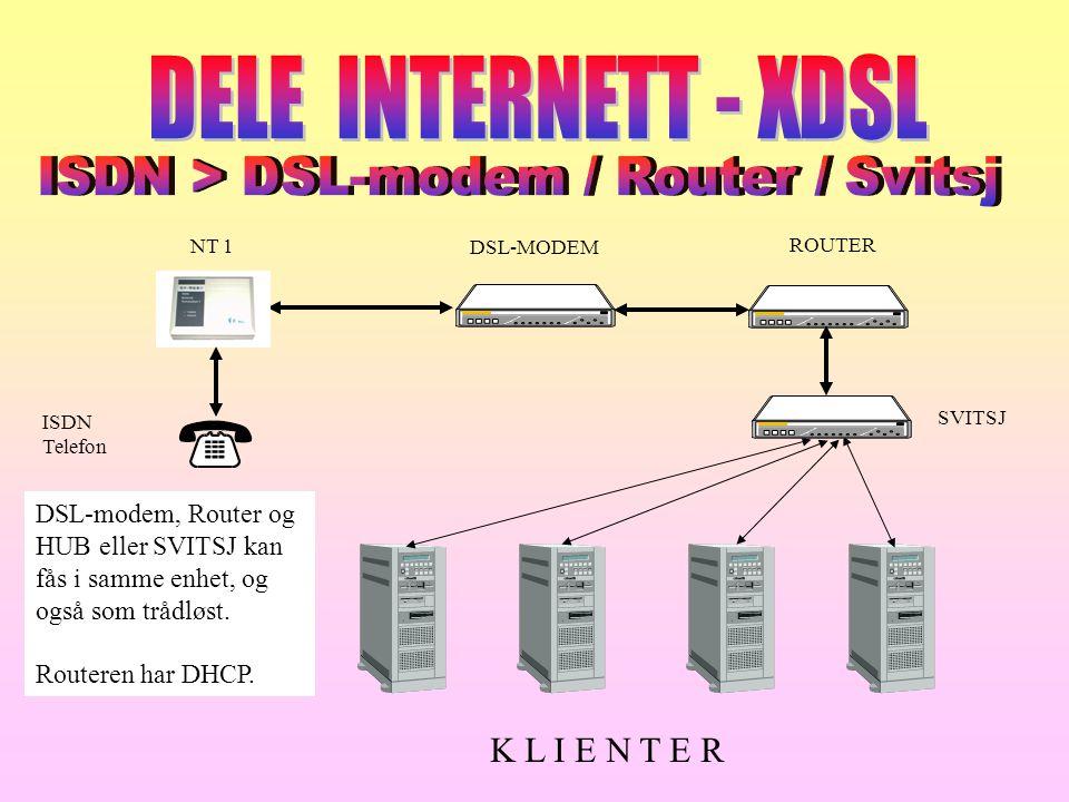 ISDN > DSL-modem / Router / Svitsj
