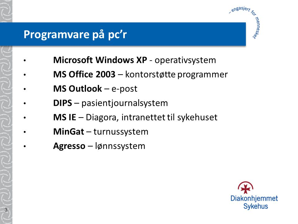 Programvare på pc'r Microsoft Windows XP - operativsystem
