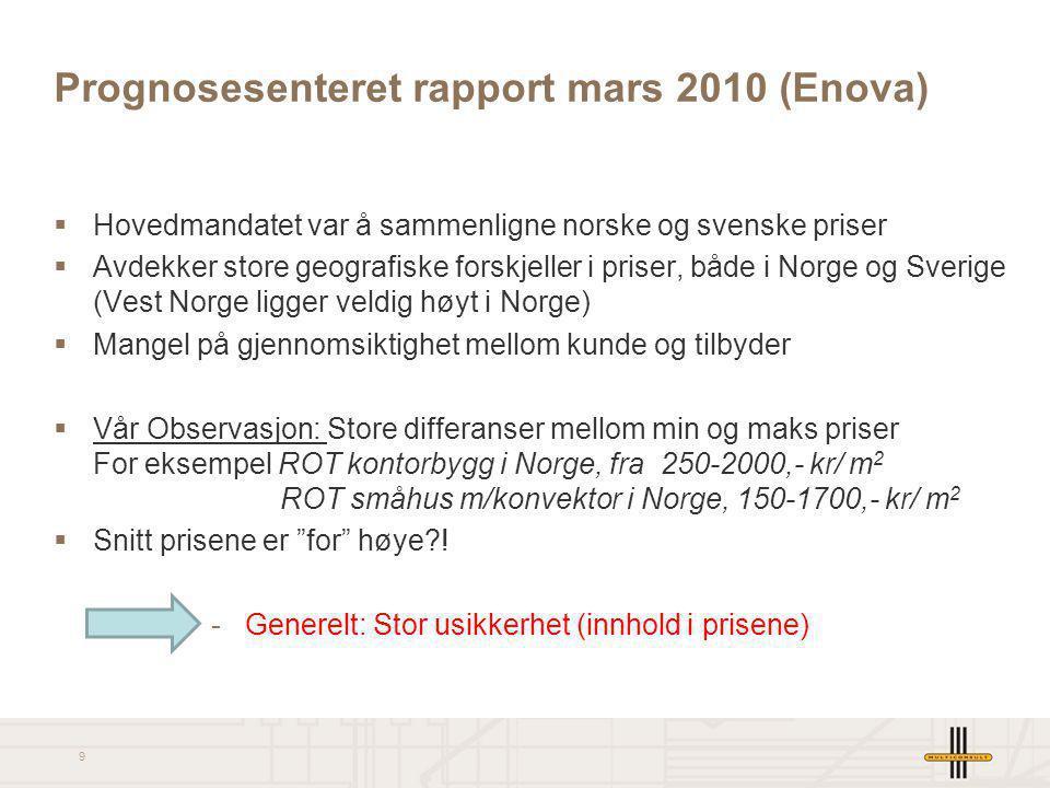 Prognosesenteret rapport mars 2010 (Enova)