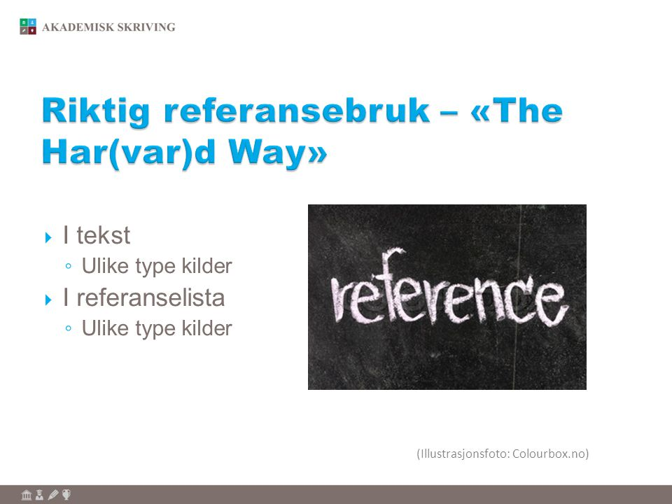 Riktig referansebruk – «The Har(var)d Way»