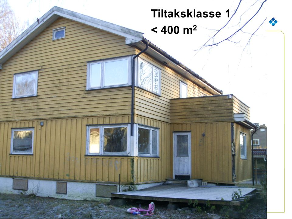 Tiltaksklasse 1 < 400 m2