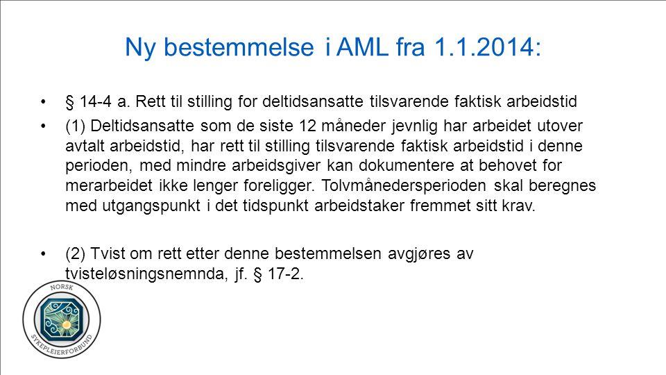 Ny bestemmelse i AML fra 1.1.2014: