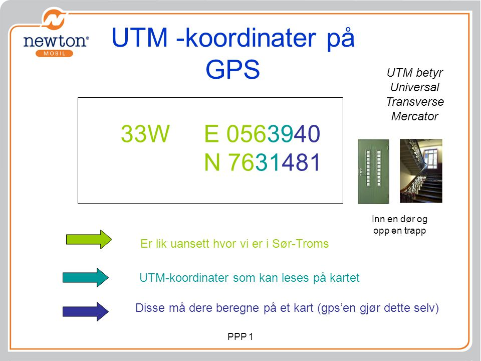 UTM -koordinater på GPS