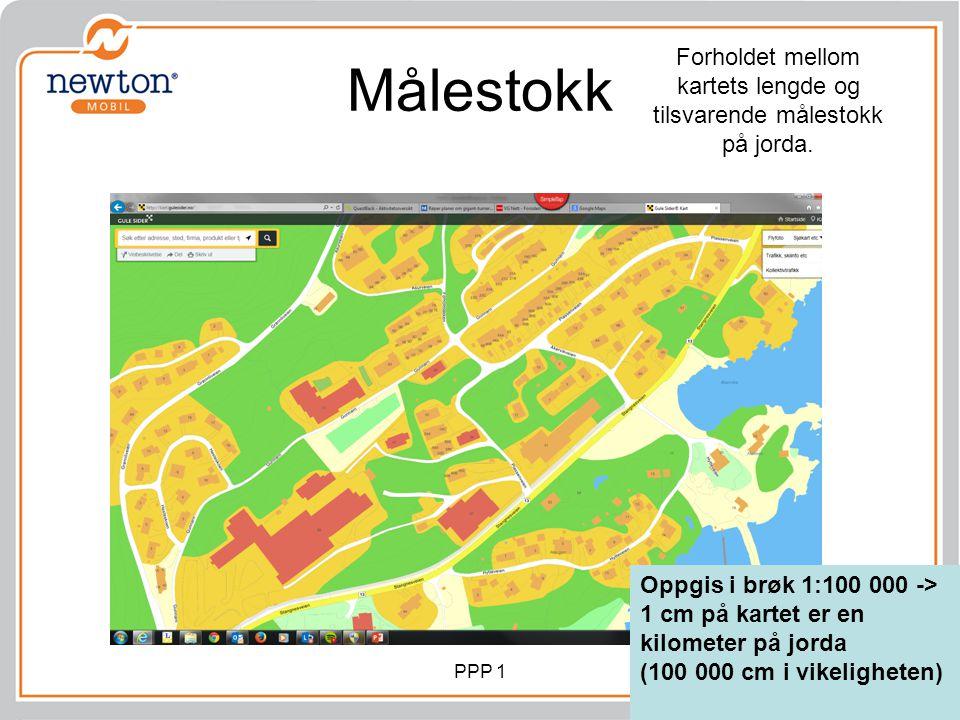 Forholdet mellom kartets lengde og tilsvarende målestokk på jorda.