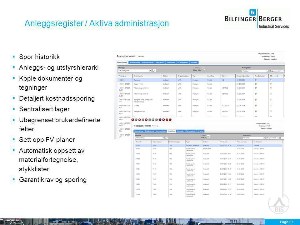 Anleggsregister / Aktiva administrasjon