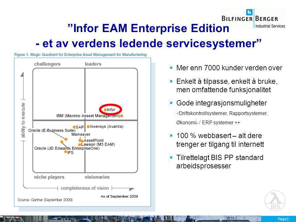 Infor EAM Enterprise Edition - et av verdens ledende servicesystemer