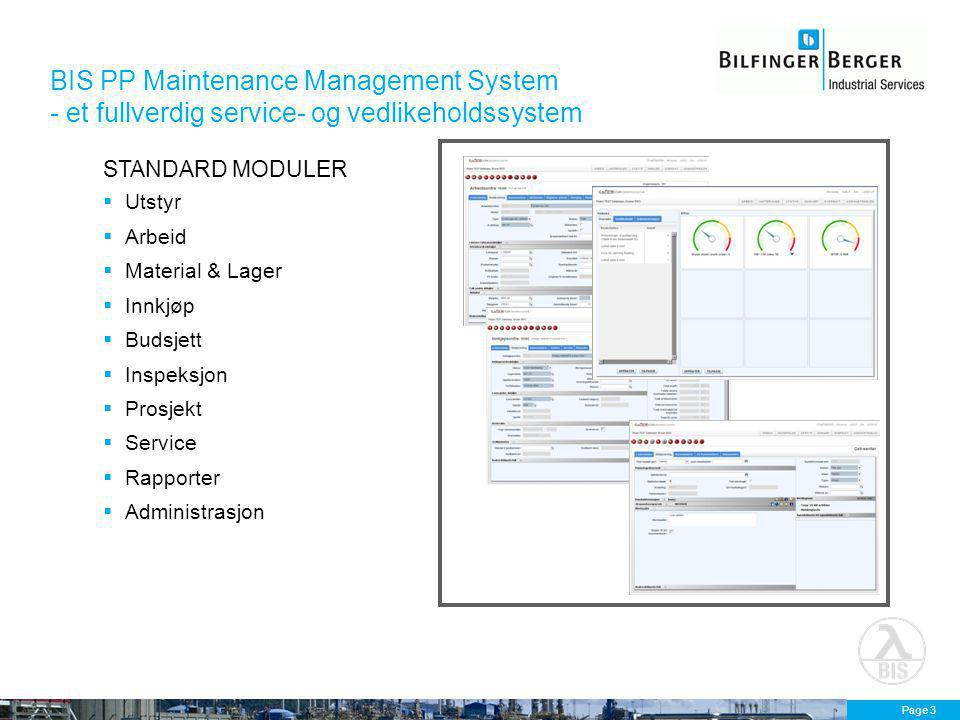 BIS PP Maintenance Management System - et fullverdig service- og vedlikeholdssystem