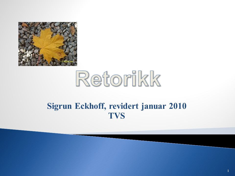 Sigrun Eckhoff, revidert januar 2010 TVS