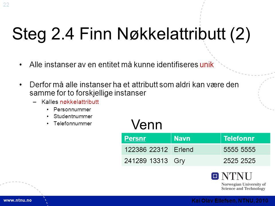 Steg 2.4 Finn Nøkkelattributt (2)