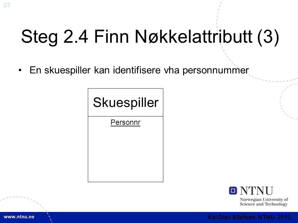 Steg 2.4 Finn Nøkkelattributt (3)