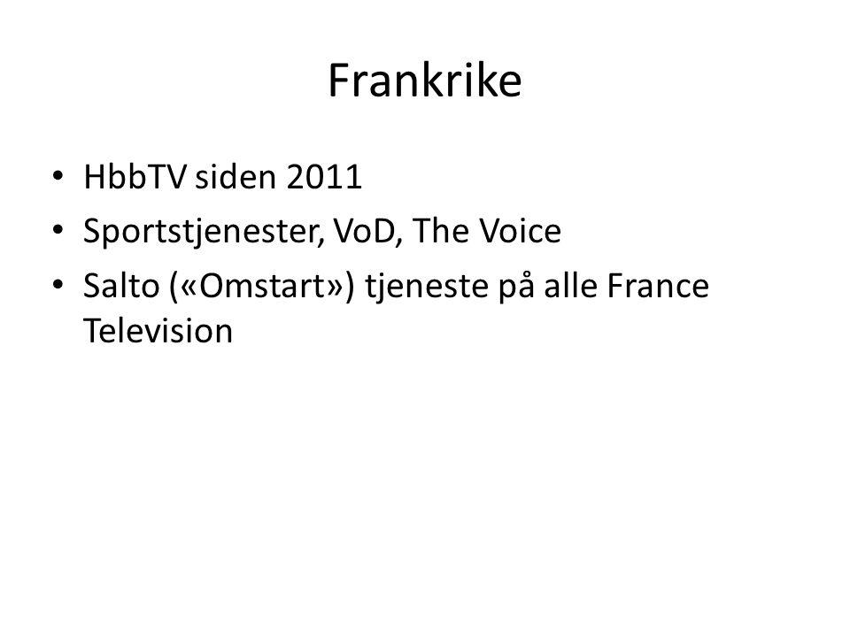 Frankrike HbbTV siden 2011 Sportstjenester, VoD, The Voice