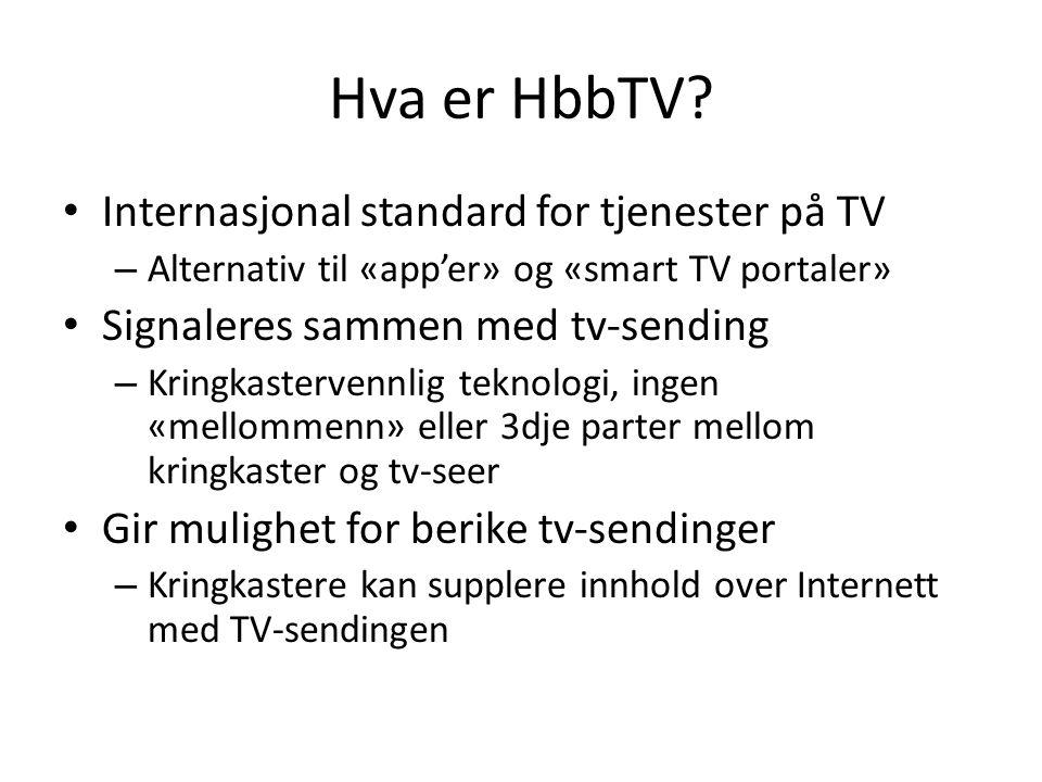 Hva er HbbTV Internasjonal standard for tjenester på TV