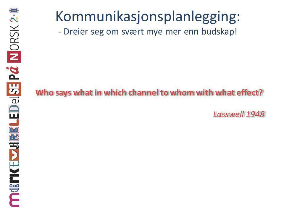 Kommunikasjonsplanlegging: - Dreier seg om svært mye mer enn budskap!