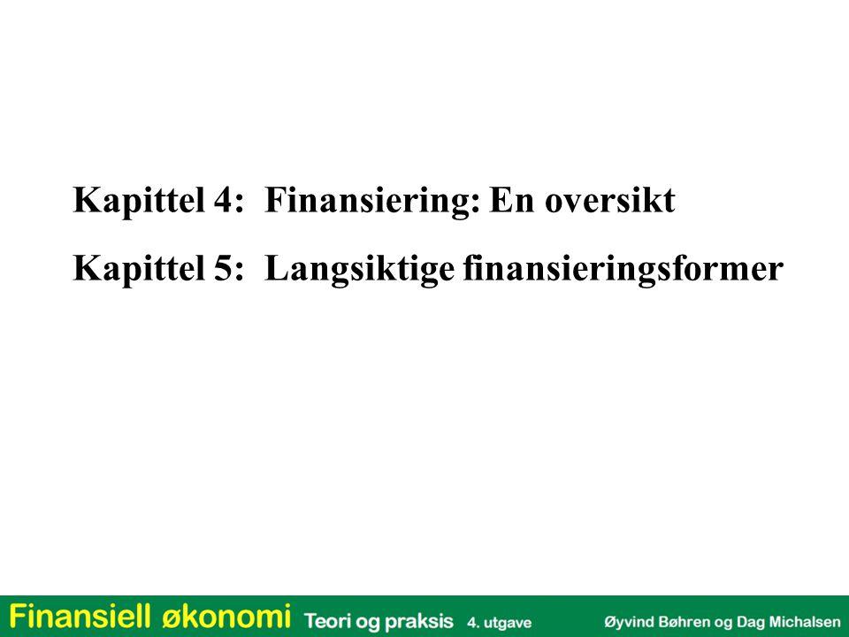 Kapittel 4: Finansiering: En oversikt