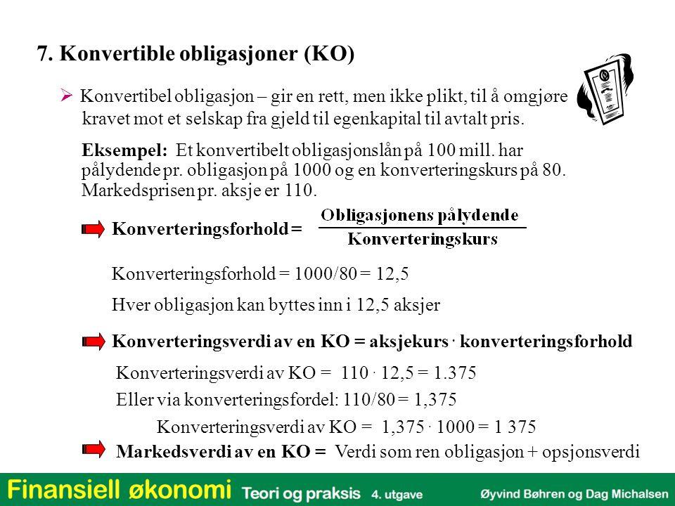 7. Konvertible obligasjoner (KO)