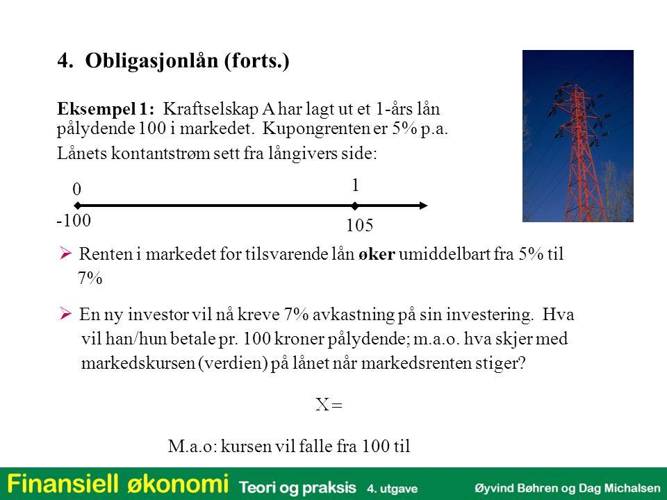 4. Obligasjonlån (forts.)