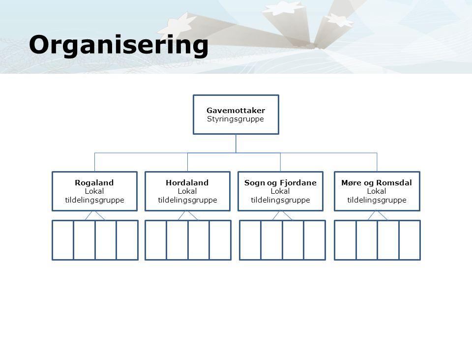 Organisering Vi har organisert oss på følgende vis!