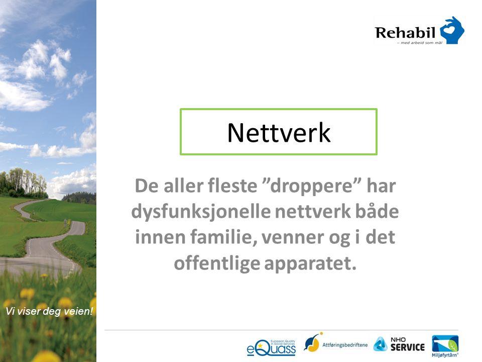 Nettverk De aller fleste droppere har dysfunksjonelle nettverk både innen familie, venner og i det offentlige apparatet.
