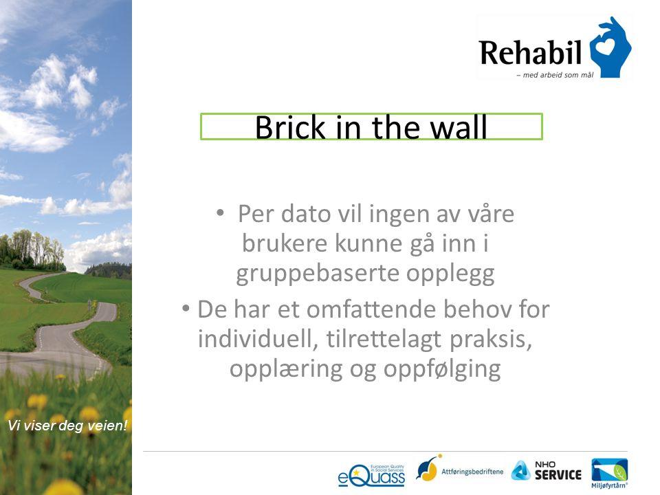 Brick in the wall Per dato vil ingen av våre brukere kunne gå inn i gruppebaserte opplegg.