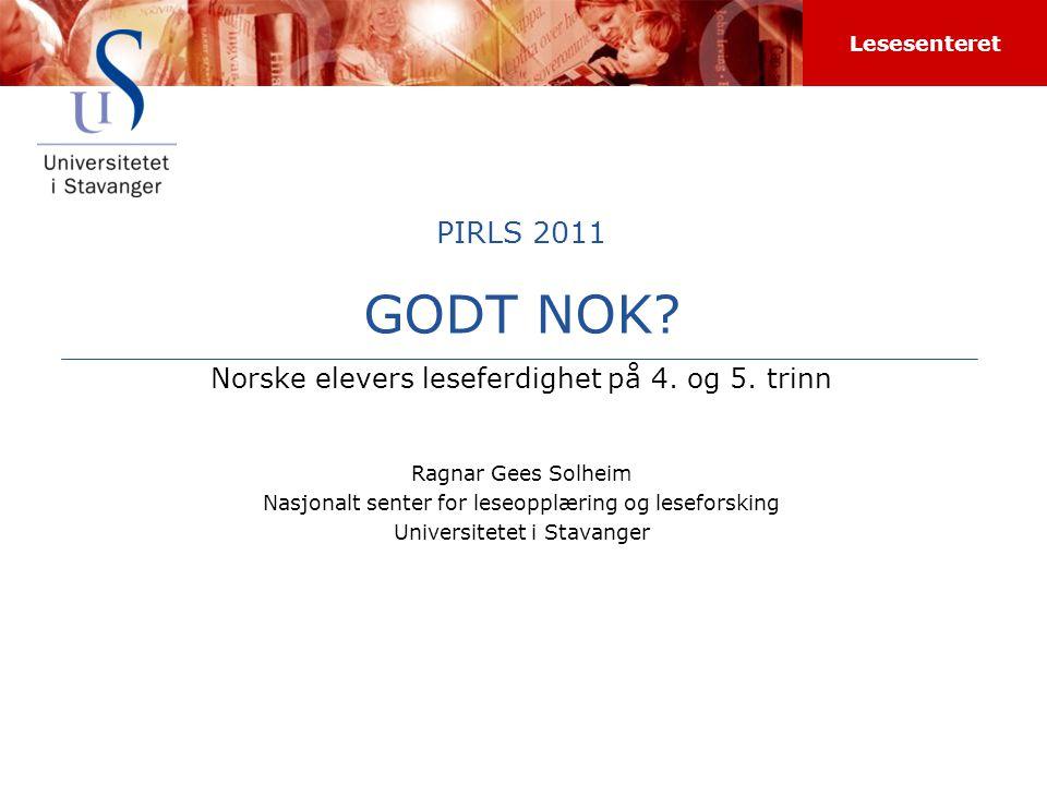 Norske elevers leseferdighet på 4. og 5. trinn