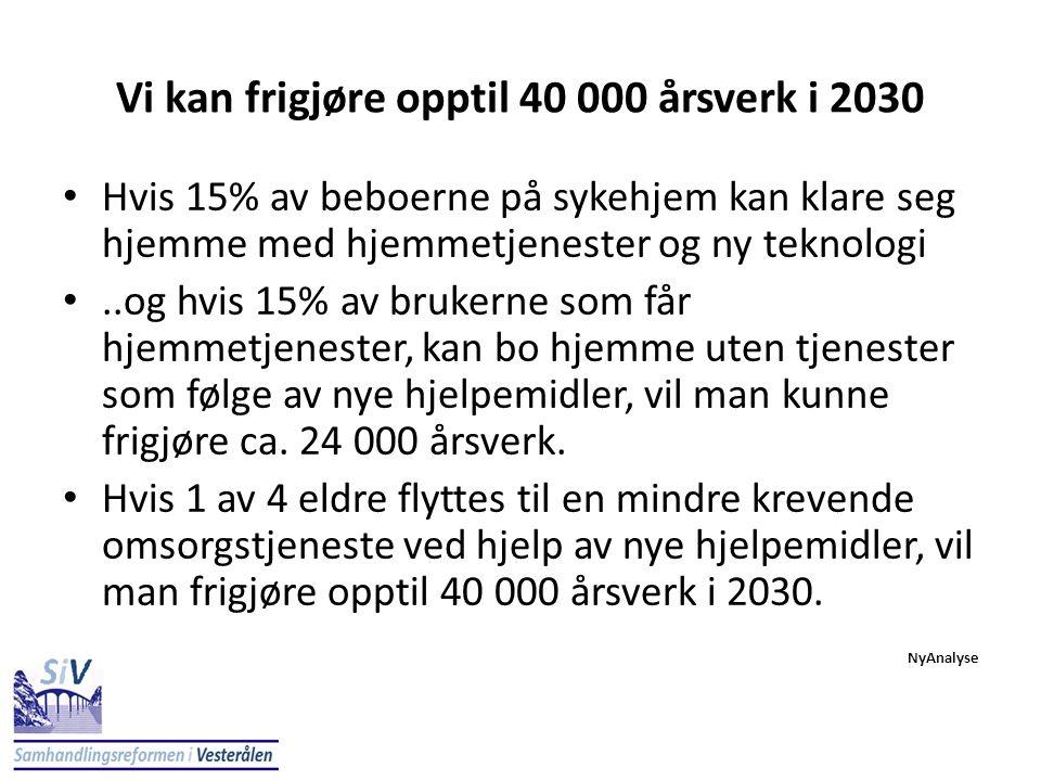 Vi kan frigjøre opptil 40 000 årsverk i 2030