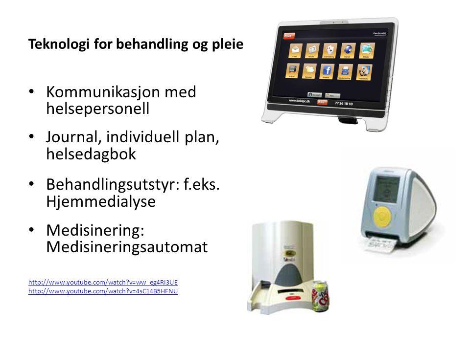 Teknologi for behandling og pleie
