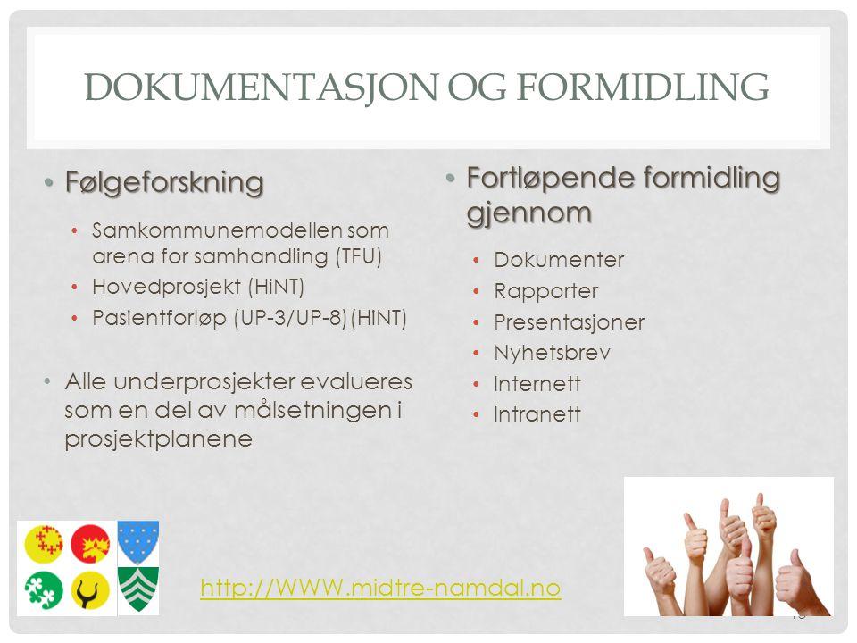 Dokumentasjon og formidling