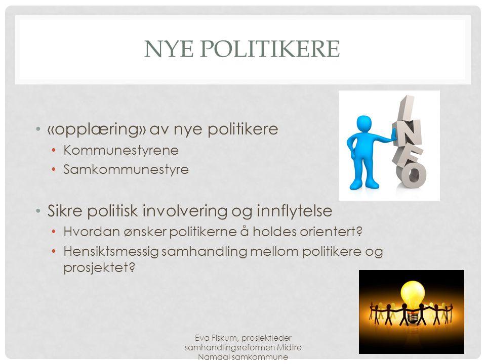 Nye politikere «opplæring» av nye politikere