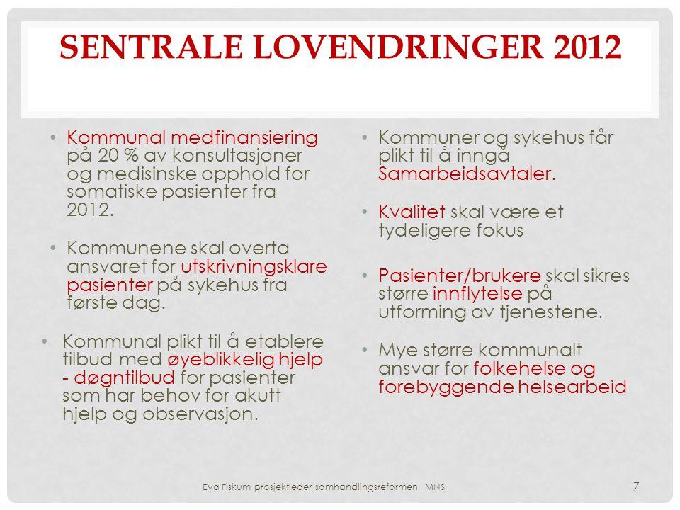 Sentrale lovendringer 2012