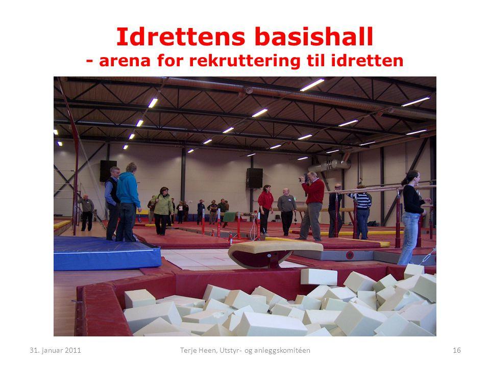 Idrettens basishall - arena for rekruttering til idretten