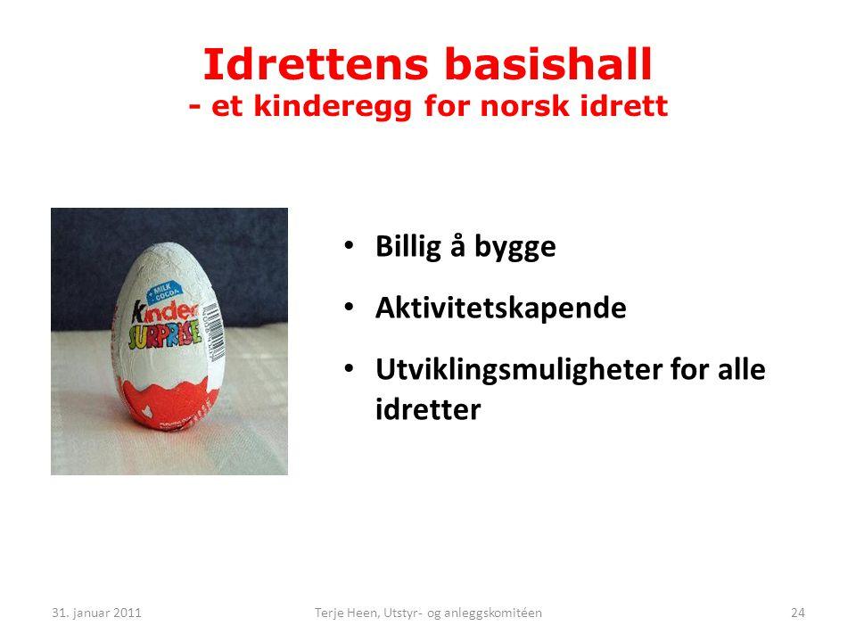 Idrettens basishall - et kinderegg for norsk idrett
