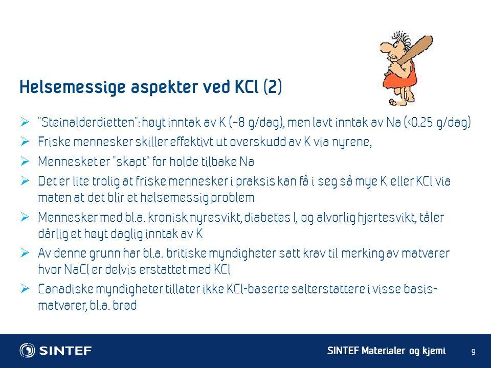 Helsemessige aspekter ved KCl (2)