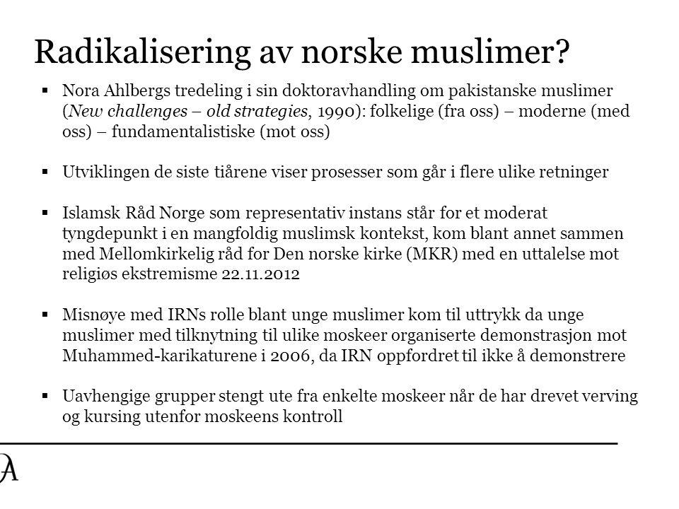 Radikalisering av norske muslimer