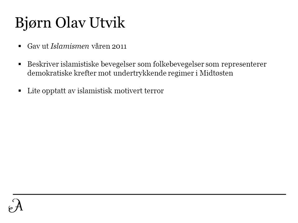 Bjørn Olav Utvik Gav ut Islamismen våren 2011