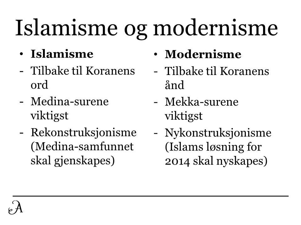 Islamisme og modernisme