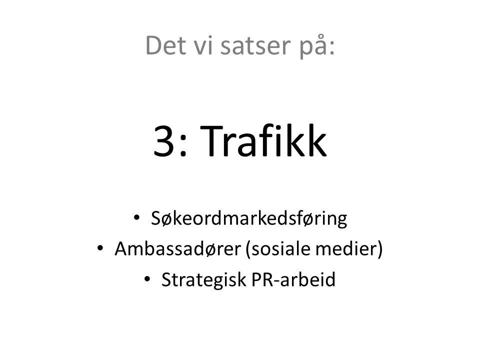 3: Trafikk Det vi satser på: Søkeordmarkedsføring