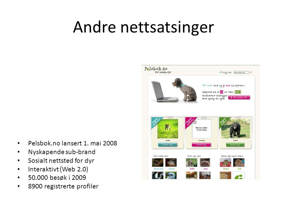 Andre nettsatsinger Pelsbok.no lansert 1. mai 2008