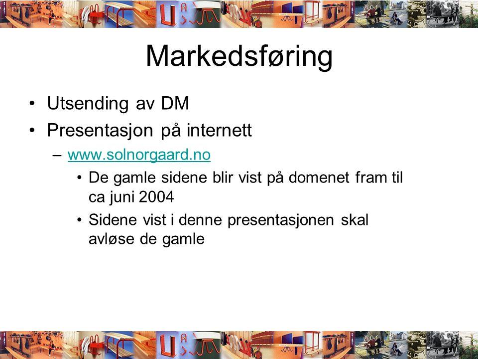 Markedsføring Utsending av DM Presentasjon på internett