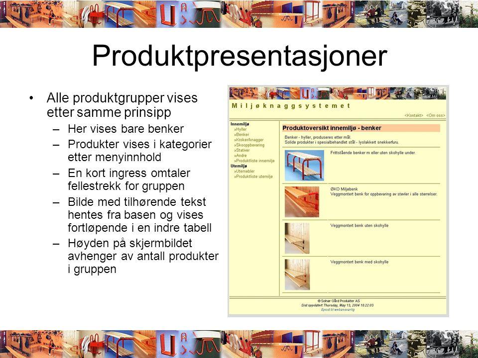 Produktpresentasjoner