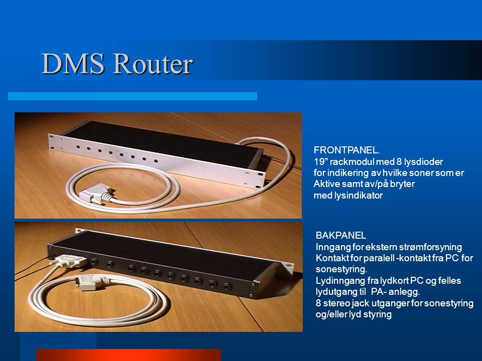 DMS Router FRONTPANEL. 19 rackmodul med 8 lysdioder