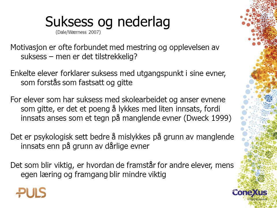 Suksess og nederlag (Dale/Wærness 2007)