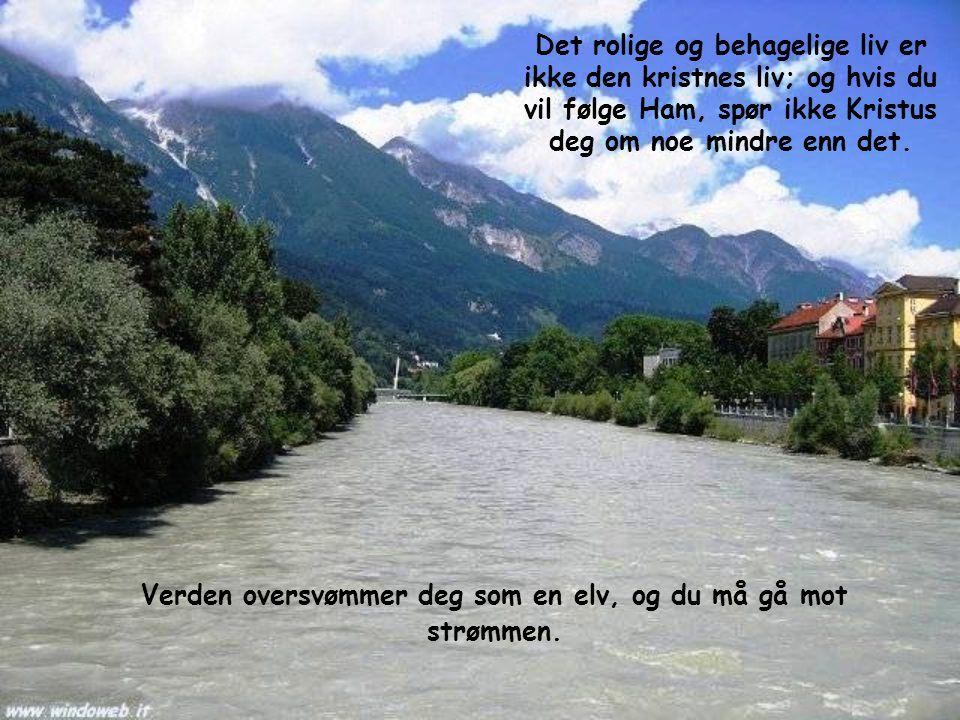 Verden oversvømmer deg som en elv, og du må gå mot strømmen.