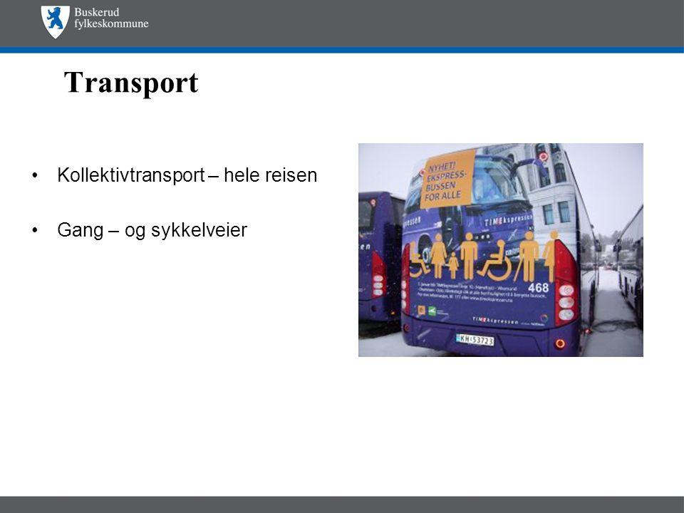 Transport Kollektivtransport – hele reisen Gang – og sykkelveier