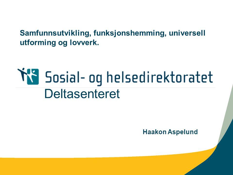 Samfunnsutvikling, funksjonshemming, universell utforming og lovverk.