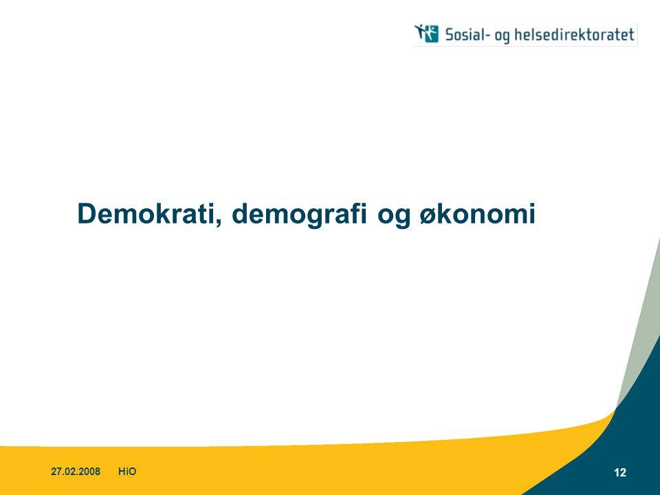 Demokrati, demografi og økonomi