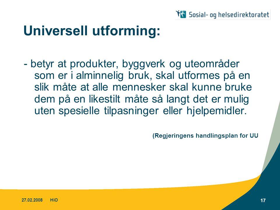 Universell utforming: