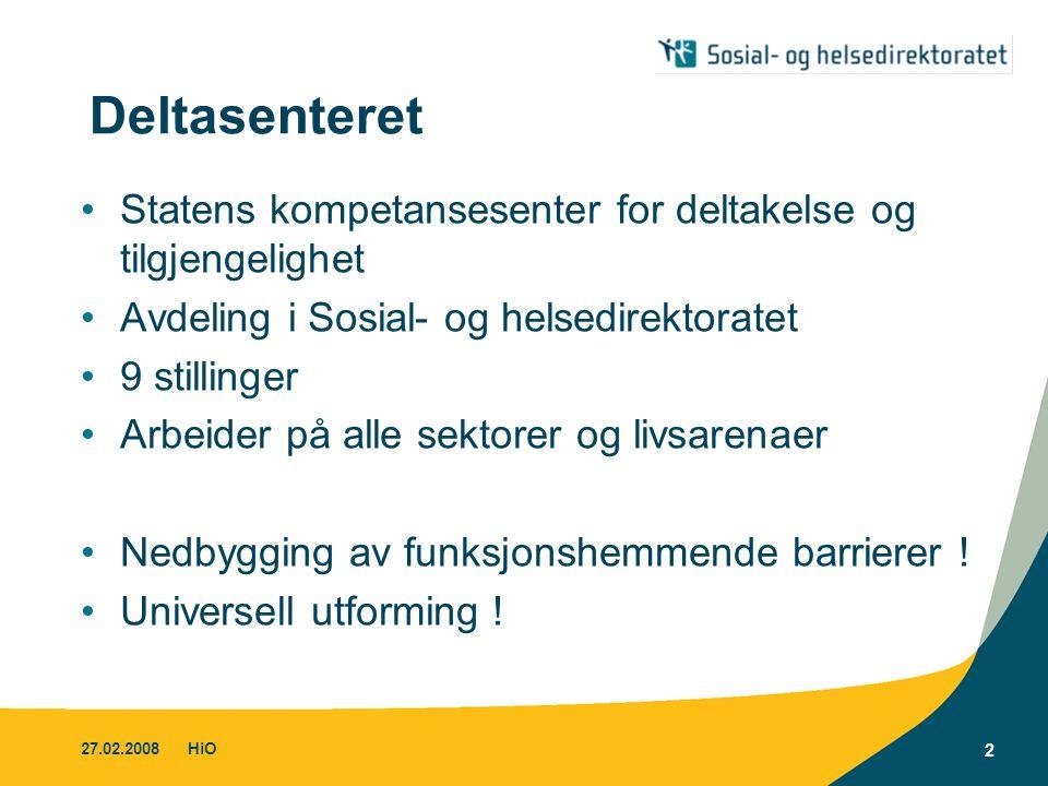 Deltasenteret Statens kompetansesenter for deltakelse og tilgjengelighet. Avdeling i Sosial- og helsedirektoratet.
